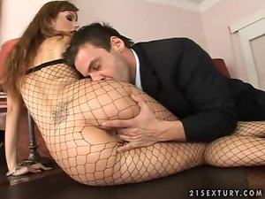 Luscious Christine Diamond gets her ass torn up