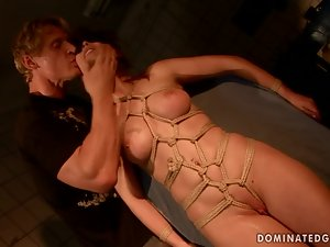 Zyna the kinky redhead bitch gets fucked and jizzed on