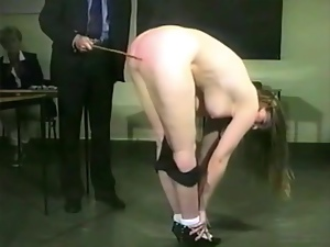 Nasty fair-haired milf gets whipped in hot vintage video
