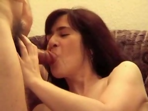 Mature brunette gets her hairy snatch pounded deep and hard