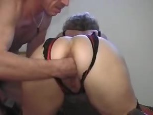 Horny aged BBW gets that cock with her holes