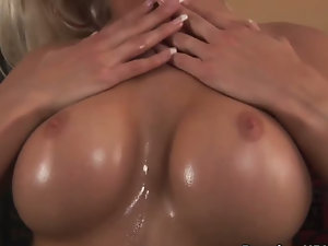 Splendid blond seducing and fucking