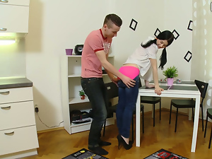 Shy Olga in hook up fuck
