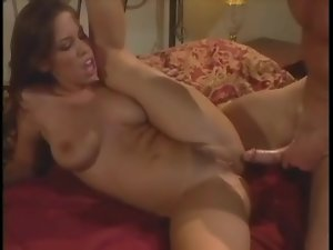Curvy chick rides cock and she moans for more