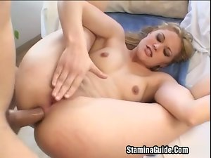 Hot Blonde Fucked On Her Ass
