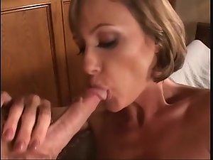 Milf with fit body fucked in her black stockings
