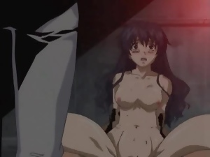Chained up girl in erotic hentai hardcore sex