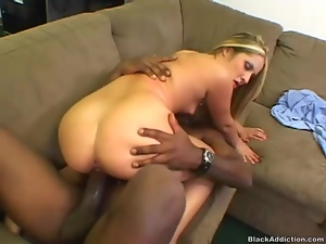 Gigantic cock stretches out white slut