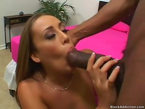 White girl pulls off panties to get fucked by BBC