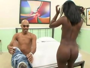 Tiny tits black chick boned by a black cock