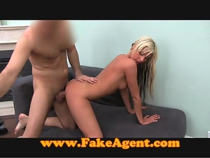 FakeAgent Beautiful blonde babe gets exploited