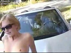 Hot Wife Fucked On The Car Hood