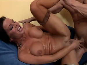Hot MILF getting fucked until wet orgasm