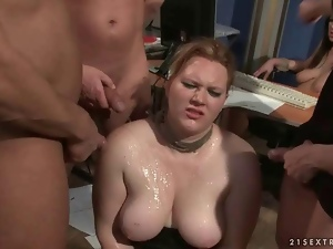 Two girls getting humiliated and fucked hard