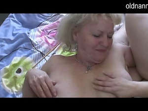 Two horny Grannies have fun