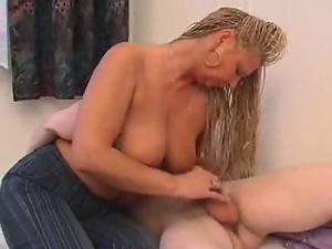 Horny Mom Wakes Up Son For Action