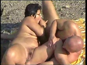 Mature BBW Fucked at the Lakeshore