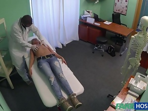 Kristyna fucked by dr after getting oral