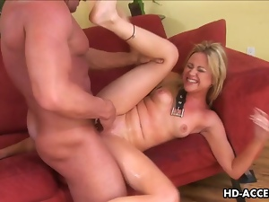 Smutty blonde Sindee Jennings gets screwed rough