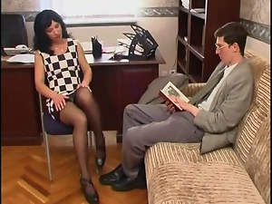 Long Legged Russian Milf In Stoc...