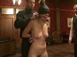 Whipped and fingered by her masters