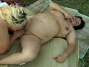 Lesbian heavy hitters outdoor pussy playing