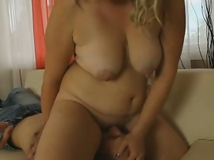 Big tits chubby jenny sits on her lovers face.