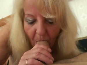 Picked up granny rides cock