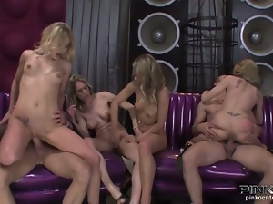 Raw italian group sex party