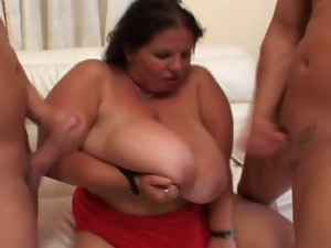 Bbw with massive tits fucks at 50