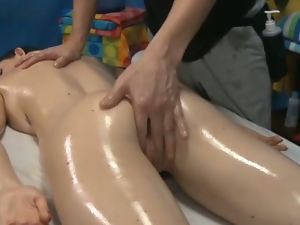 Kendall Karson oily body and pussy massage