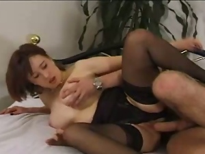 Amateur wife in stockings assfucked