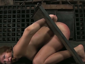 Infernal restrains with painful whipping
