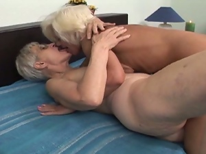 Granny lesbians plays with toys