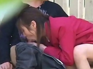Naughty schoolgirl having public sex on spycam