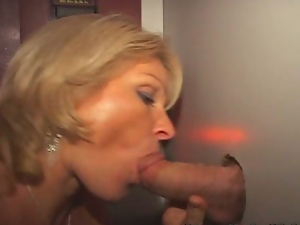 Amateur takes cock in every hole from glory hole