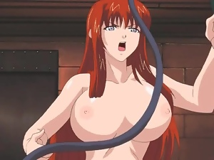 Beautiful hentai mistress with big tits does dungeon sex