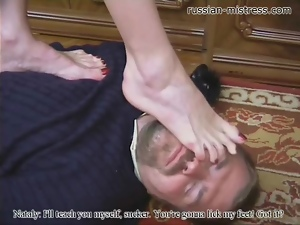 Burglar caught and punished by mistress