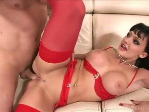 Aletta Ocean looks steamy fucking in lingerie