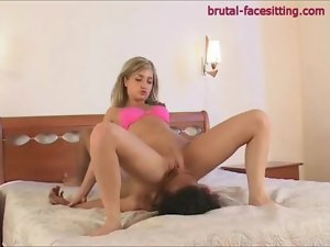 Pink panties chick rides his face