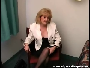 Cute blonde mature strips in the hotel room