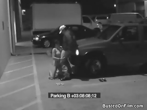 Security guard blown by slut in parking lot