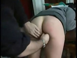 school young lady spanked caned and banged WF