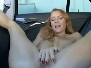 Sensual Redhead Cougar Banged Point of view in the Backseat