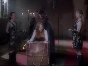 Illusion (2013) - chained wench receives four masked men
