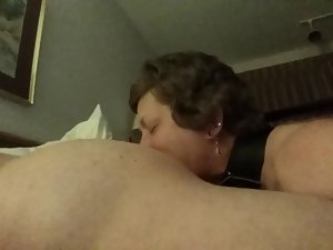 giving blowjob naughty ass caressing butt banging slave