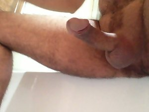 My penis left throbbing + dribbling after big cumshot!