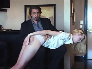 undressing and spanked