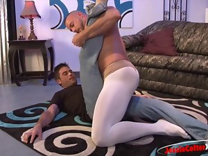 Silly Ballet Wear Handjob with Jessie Colter + Lance Hart
