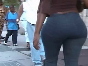 Terrific naughty ass walking the streets